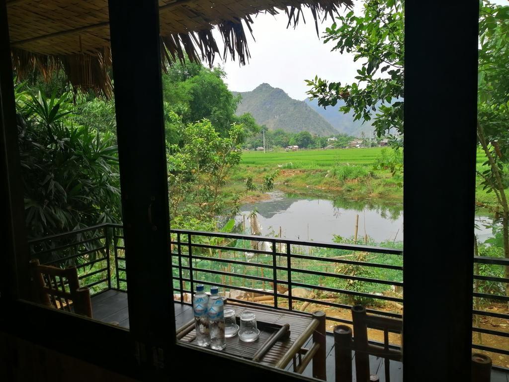 view bungalow của mai châu farmstay